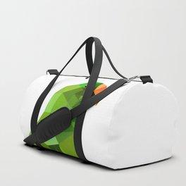 Eclectus parrot Geometric bird art Duffle Bag