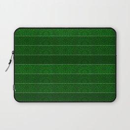 Green Snowflake Stripes Laptop Sleeve