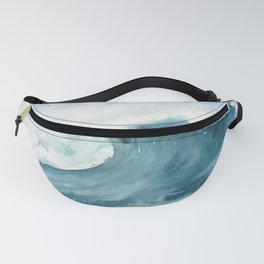 Wave Watercolor Study Fanny Pack