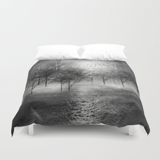 Black and White - Paisaje y color II Duvet Cover