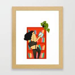 Girl Reading Framed Art Print