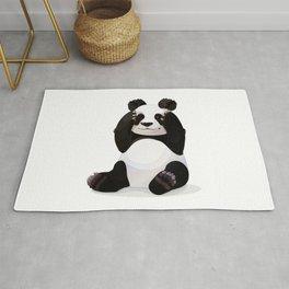 Cute big panda bear Rug