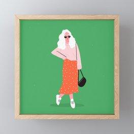 Sunglasses Babe Framed Mini Art Print