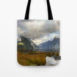 Mitre Peak, Milford Sound, New Zealand Tote Bag