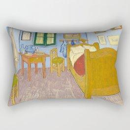 The Bedroom in Arles by Vincent van Gogh, 1888 Rectangular Pillow