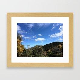 Blue Ridge Parkway Skew Framed Art Print