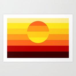 Sunset Stripe Art Print