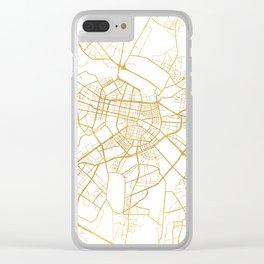SOFIA BULGARIA CITY STREET MAP ART Clear iPhone Case