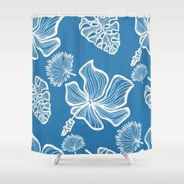 Blue Tropicana Shower Curtain