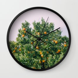 Oranges for Days Wall Clock