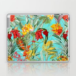 Vintage & Shabby Chic - Colorful Tropical Blue Garden Laptop & iPad Skin