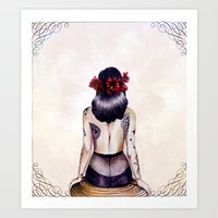pinup Art Prints featuring Pinup. by Anya K