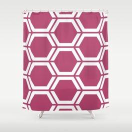 Irresistible - violet - Geometric Polygon Pattern Shower Curtain