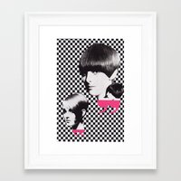 60s Framed Art Prints featuring 60s by Luca Mainini