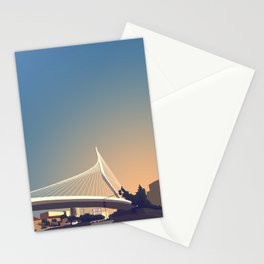 Calatrava Bridge Jerusalem Stationery Cards