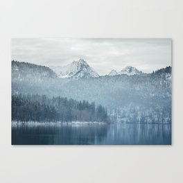Lake and mountains - Bavarian Alps Canvas Print