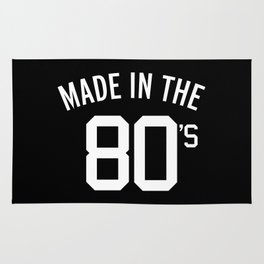 Made In The 80's Quote Rug