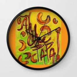 """Ah Chee Papa""  - the new catch phrase coming your way! Wall Clock"