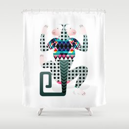 monkey poster Shower Curtain