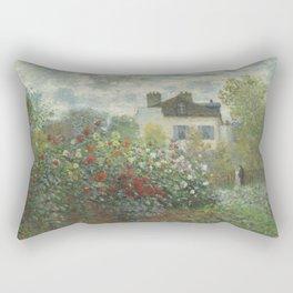 Claude Monet The Artist's Garden in Argenteuil (A Corner of the Garden with Dahlias), 1873 Rectangular Pillow