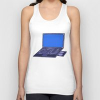 laptop Tank Tops featuring  Laptop  by Sofia Youshi
