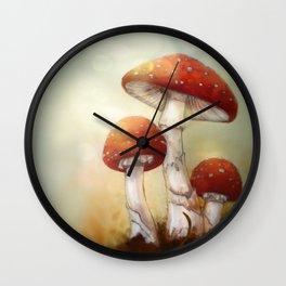 Toadstool Trio Wall Clock