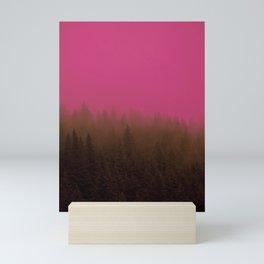 Pink & Chocolate Taffy Fog - Seward, Alaska Mini Art Print