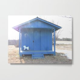 Blue Cabin Metal Print