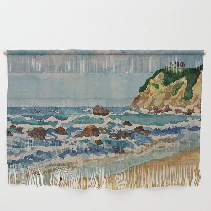 Island Beach Scenes: Block Island Beach Scene Wall Hanging By Wbdesigns