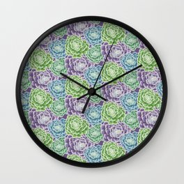 Pattern Succulent Wall Clock