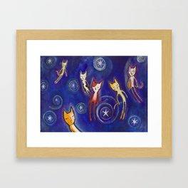 Levitation night Framed Art Print