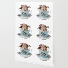 Baby Bunny Tea Time Wallpaper