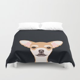Misha - Chihuahua art print phone case gift for dog owner and dog people Duvet Cover