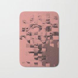 Pink sculpture Bath Mat