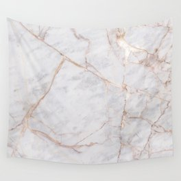 White Italian Marble & Gold Wall Tapestry