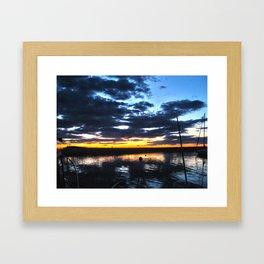 Block Island Sunrise Framed Art Print