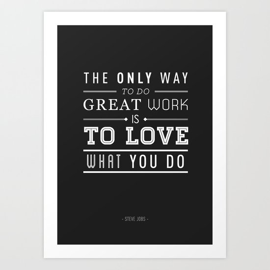 Type Poster - Steve Jobs Art Print