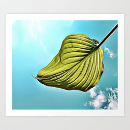 Floating Leaf Airbrush Artwork Art Print