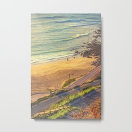 surfers beach. ericeira Metal Print