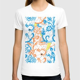 Cobwebbed Flower Lace Pattern T-shirt