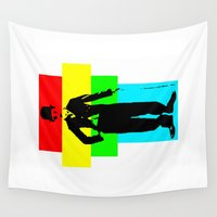 charlie Wall Tapestries featuring Charlie Chaplin by Silvio Ledbetter