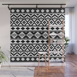 Aztec Essence IIIb Ptn White & Black Wall Mural