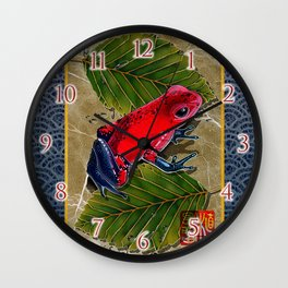 DW-002 Floating Frog Wall Clock