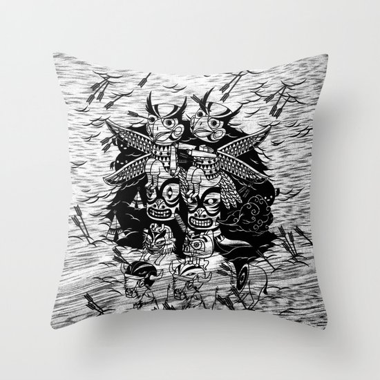 The Myth of Totummy Throw Pillow