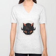 Devil cat Unisex V-Neck