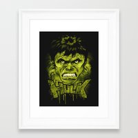hulk Framed Art Prints featuring HULK by dan elijah g. fajardo