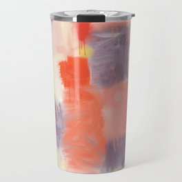 City Sunset Geometric Abstract Painting Travel Mug