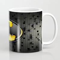 bat man Mugs featuring BAT MAN by BeautyArtGalery