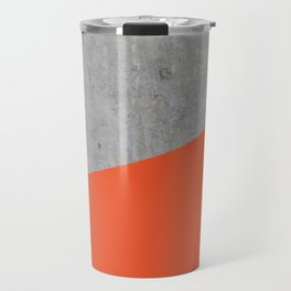 Concrete and Flame Color Travel Mug