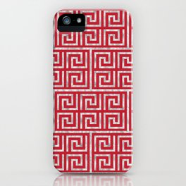 Oriental Symbol (Red & Silver) iPhone Case